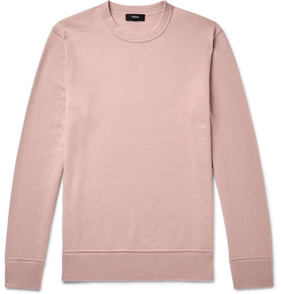 Photo: Theory - Hills Cashmere Sweater - Pink
