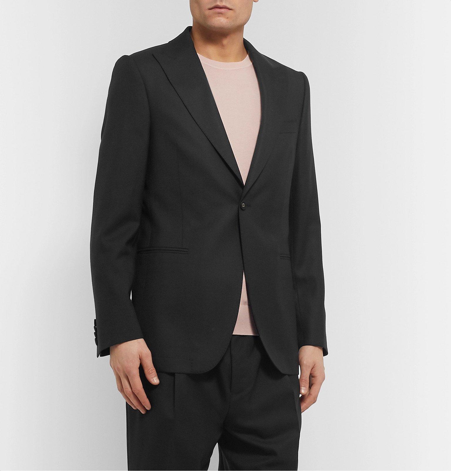 Officine Generale - Black Marcello Wool Suit Jacket - Black