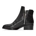 3.1 Phillip Lim Black Croc-Embossed Shearling Alexa Boots