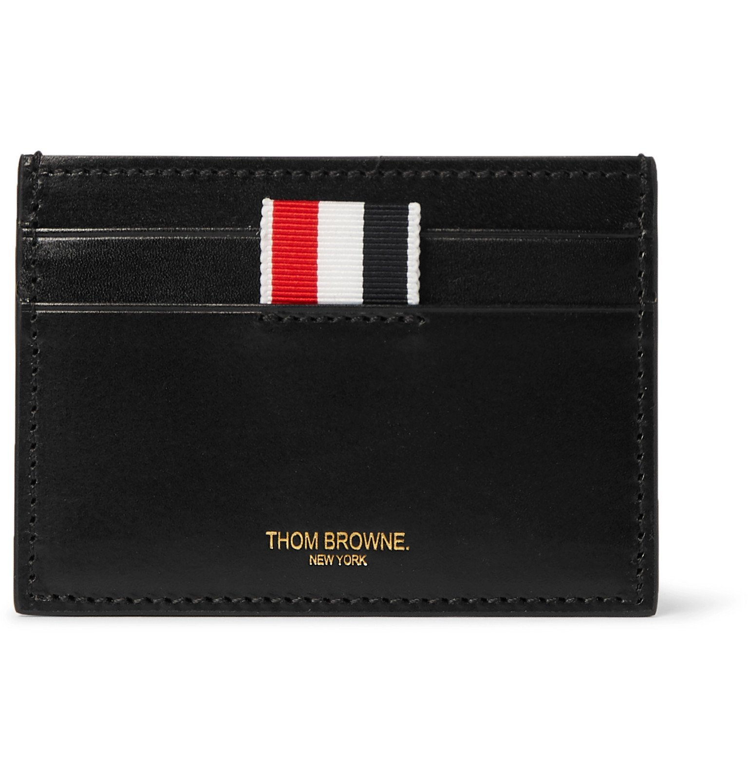 Photo: Thom Browne - Embossed Leather Cardholder - Black