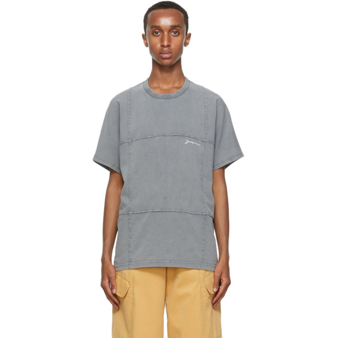 Photo: Jacquemus Grey Le T-Shirt Carro T-Shirt