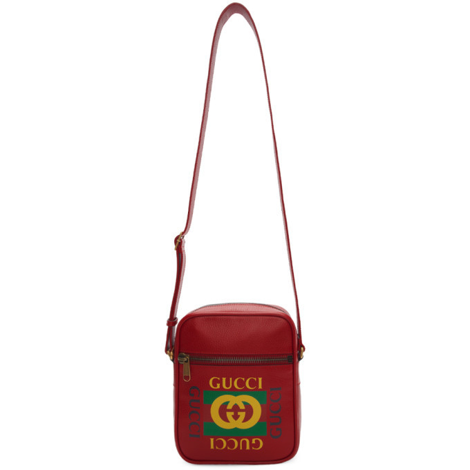 Photo: Gucci Red Vintage Logo Messenger Bag
