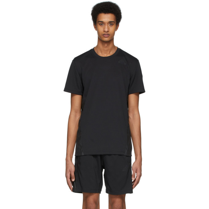 Photo: adidas Originals Black Aero 3-Stripes T-Shirt