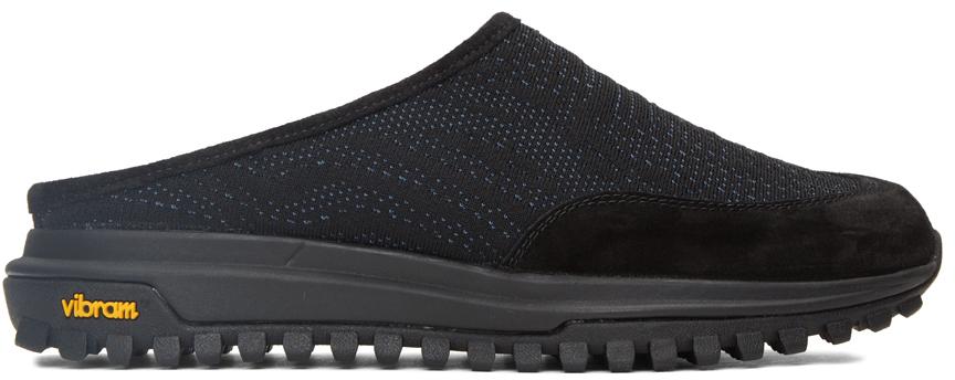 Photo: Diemme Black & Blue Knit Maggiore Slip-On Loafers