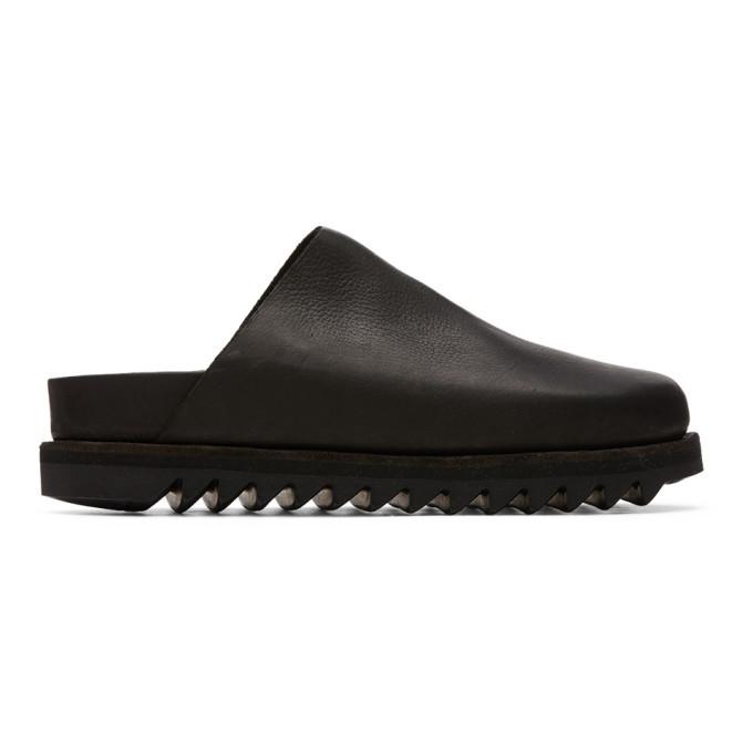 Photo: Guidi Black Calfskin Slip-On Loafers