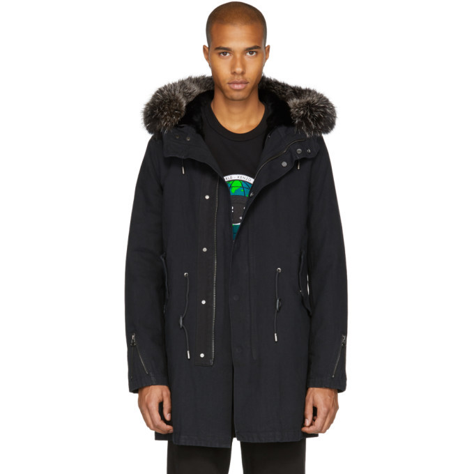 Photo: Yves Salomon Black Fur-Lined Parka