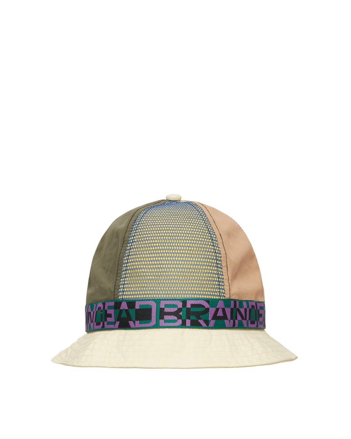 Photo: Brain Dead Nigel Color Blocked Bell Bucket Hat Cream