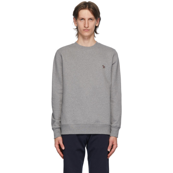 Photo: PS by Paul Smith Grey Zebra Sweatshirt