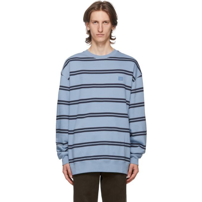 Photo: Acne Studios Blue Striped Patch Sweatshirt