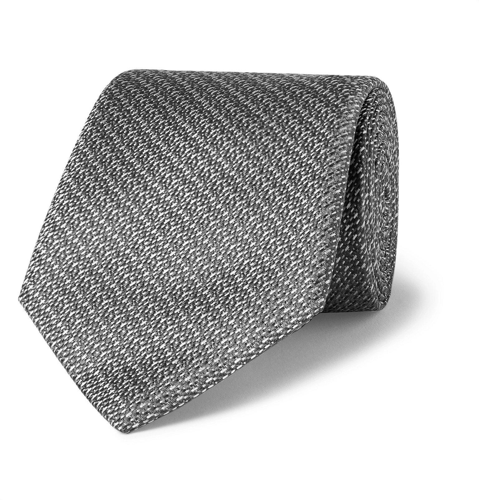 Photo: Canali - 8cm Silk-Jacquard Tie - Gray