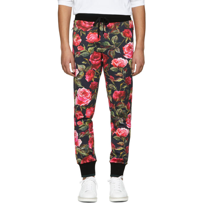 Photo: Dolce and Gabbana Black Rose Sweatpants