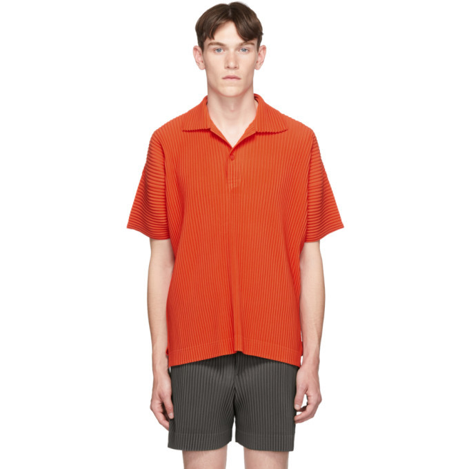 Photo: Homme Plisse Issey Miyake Orange Pleat Polo