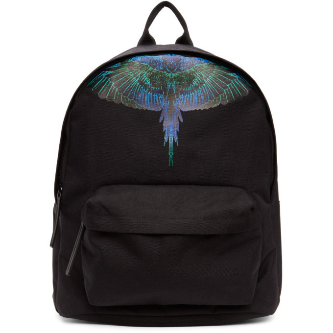 Photo: Marcelo Burlon County of Milan Black and Blue Neon Wings Backpack