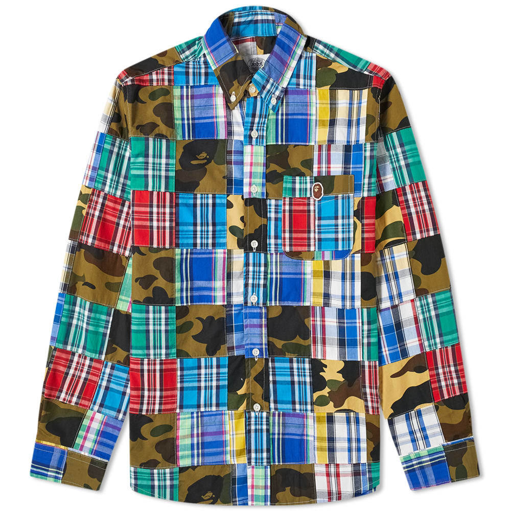 Photo: A Bathing Ape Button Down Patchwork Shirt