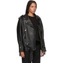 Acne Studios Black Leather Oversized New Myrtle Jacket