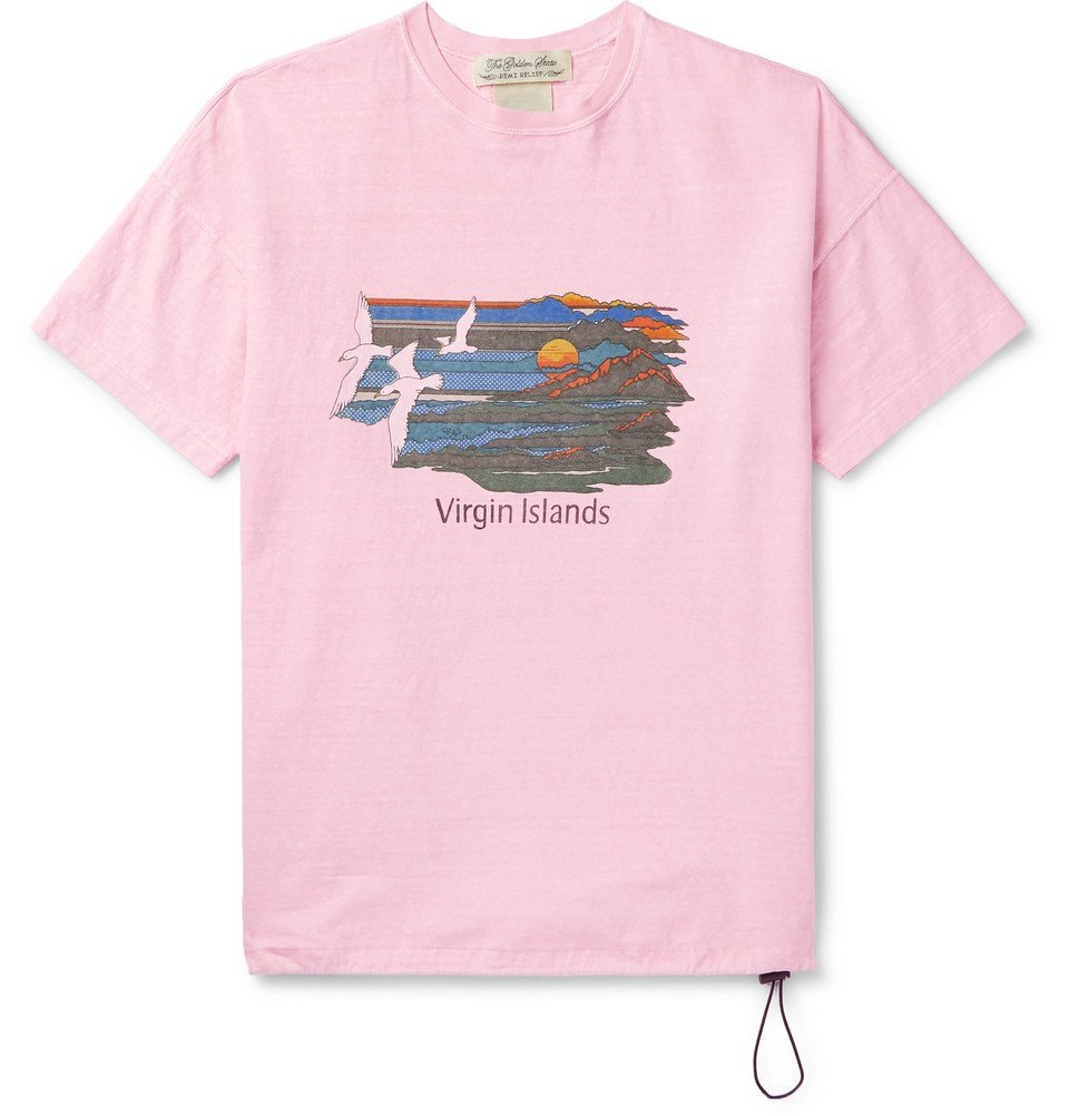 Photo: Remi Relief - Printed Cotton-Jersey T-Shirt - Pink