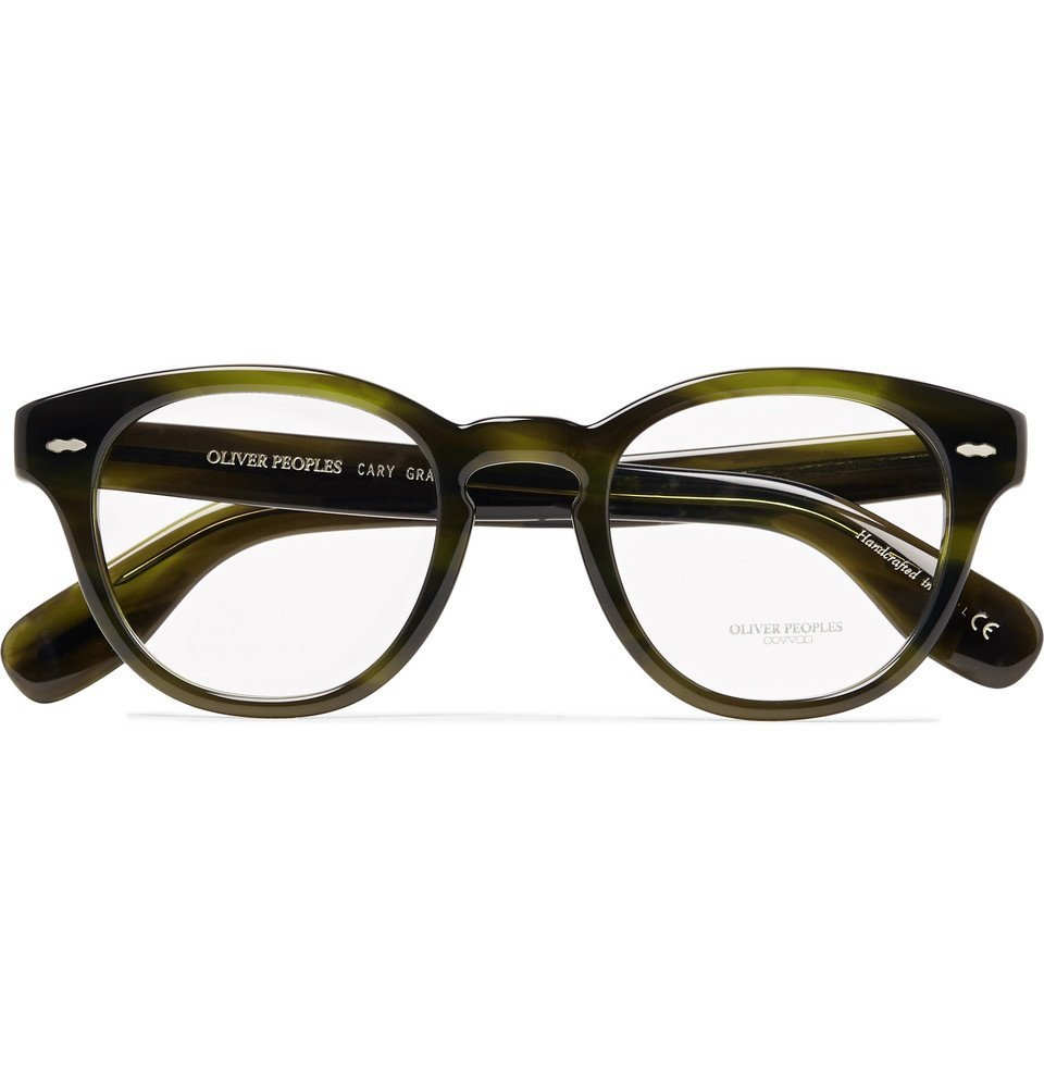 Oliver Peoples - Cary Grant Round-Frame Acetate Optical Glasses - Green
