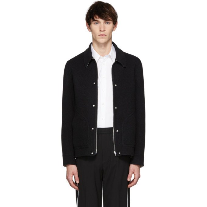 Photo: Helmut Lang Black Logo Zip Jacket