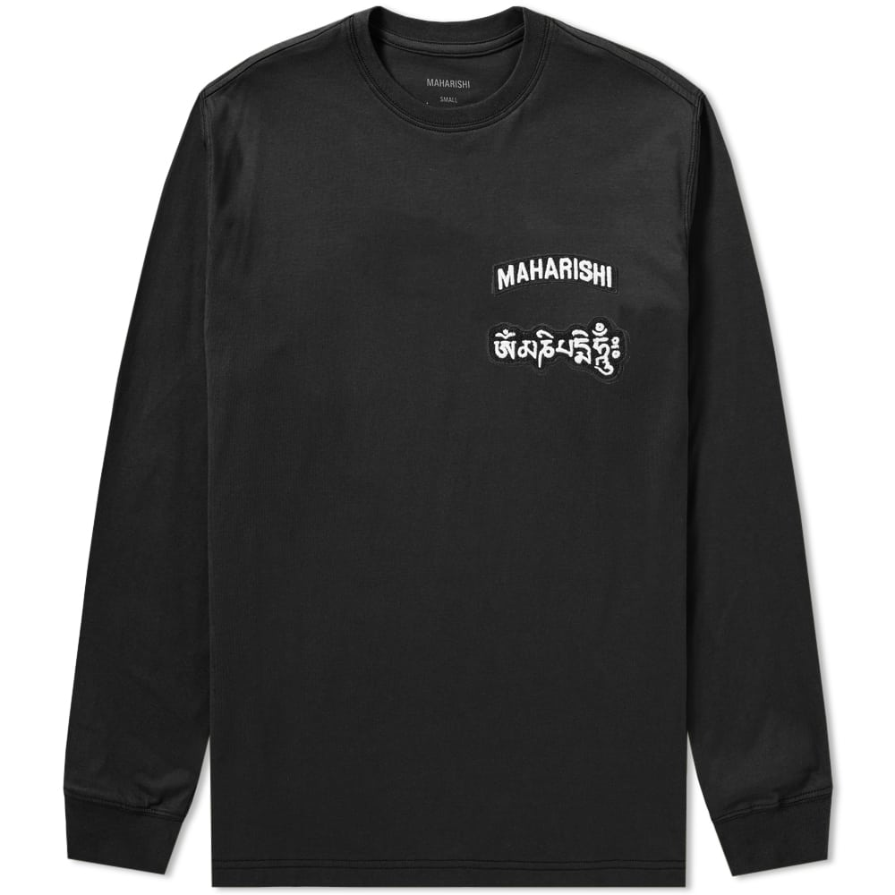 Photo: Maharishi Long Sleeve Ohm Patch Logo Tee