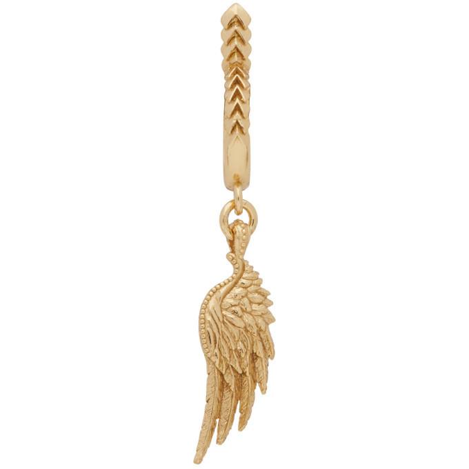 Photo: Emanuele Bicocchi Gold Single Wing Hoop Earring