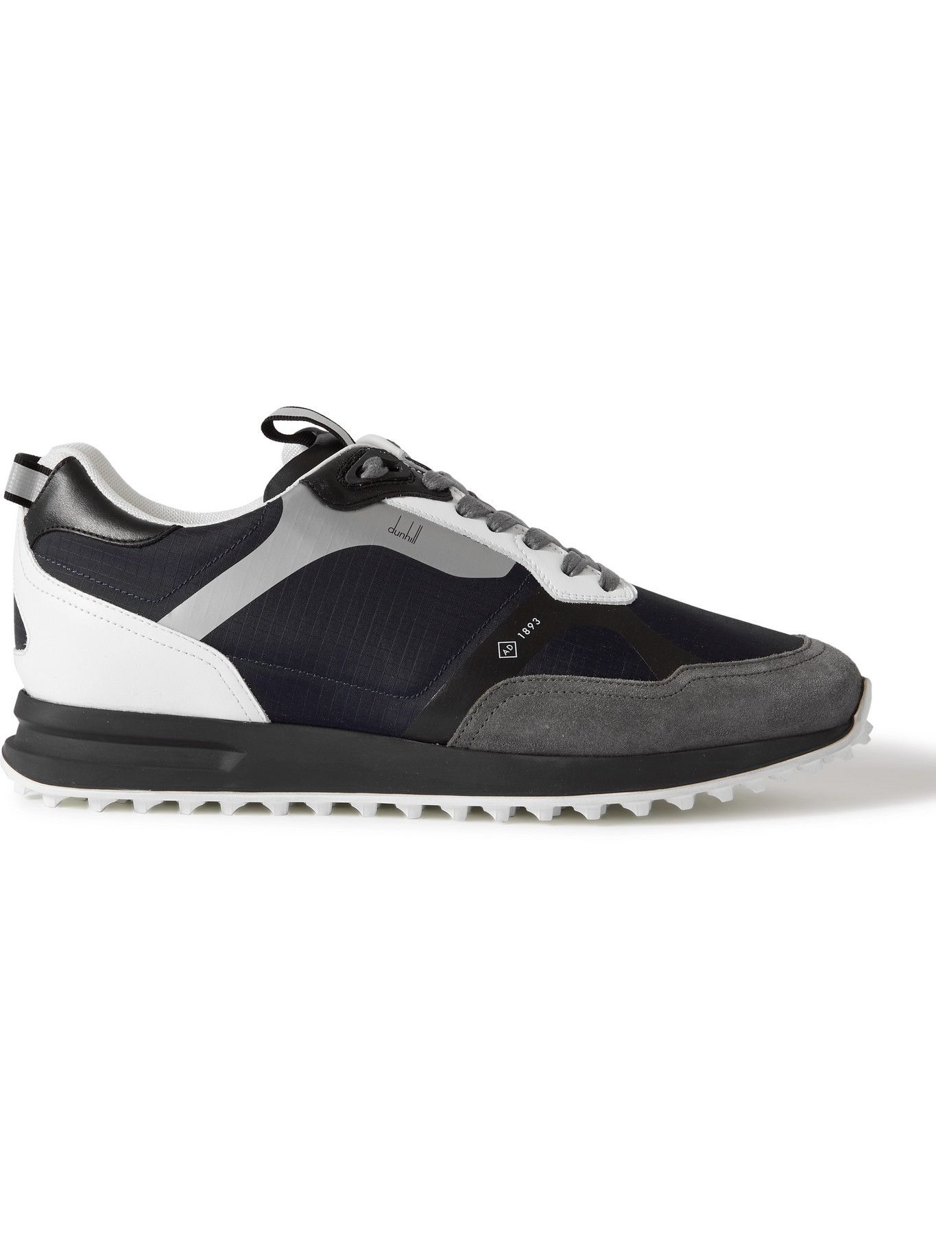 Dunhill - Radial 2.0 Leather and Suede-Trimmed Ripstop Sneakers - Blue