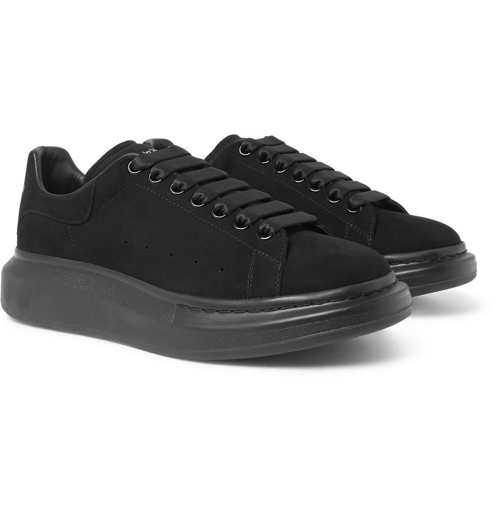 Photo: Alexander McQueen - Exaggerated-Sole Suede Sneakers - Black