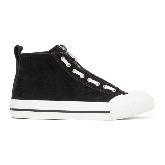 Photo: Diesel Black S-Astico Mzip Sneakers