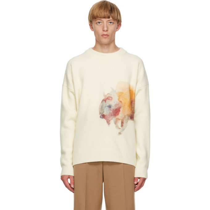 Photo: Jil Sander Off-White Wool Sweater