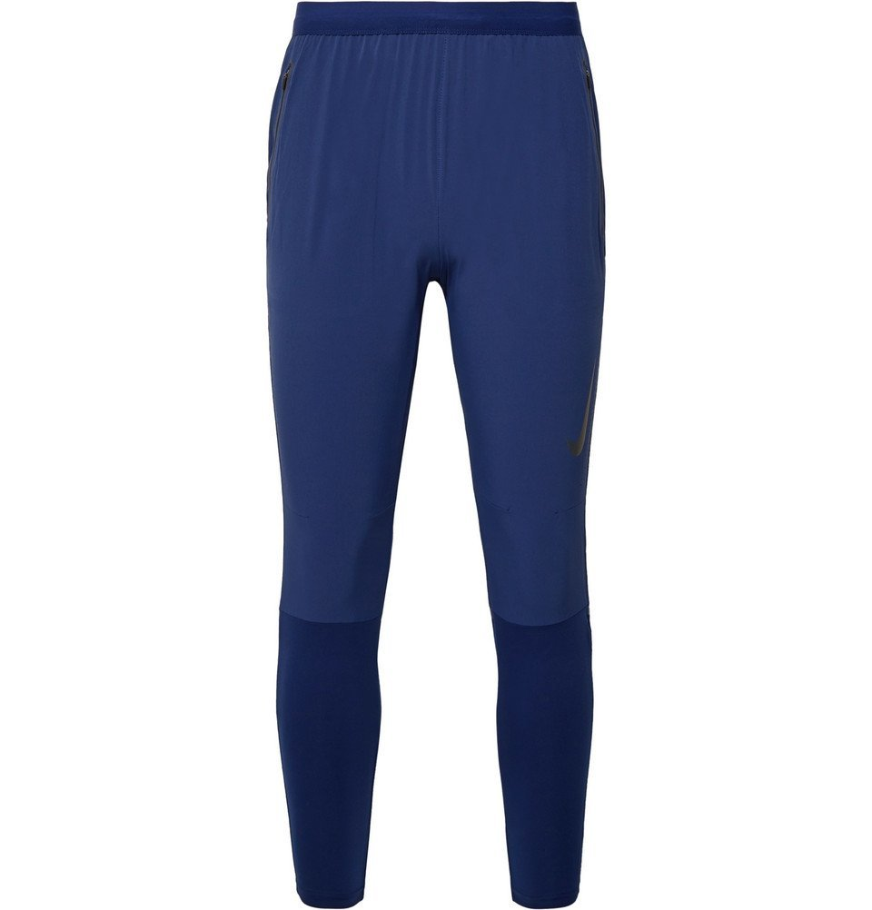 Nike Running - Swift Tapered Dri-FIT and Stretch-Jersey Sweatpants - Blue