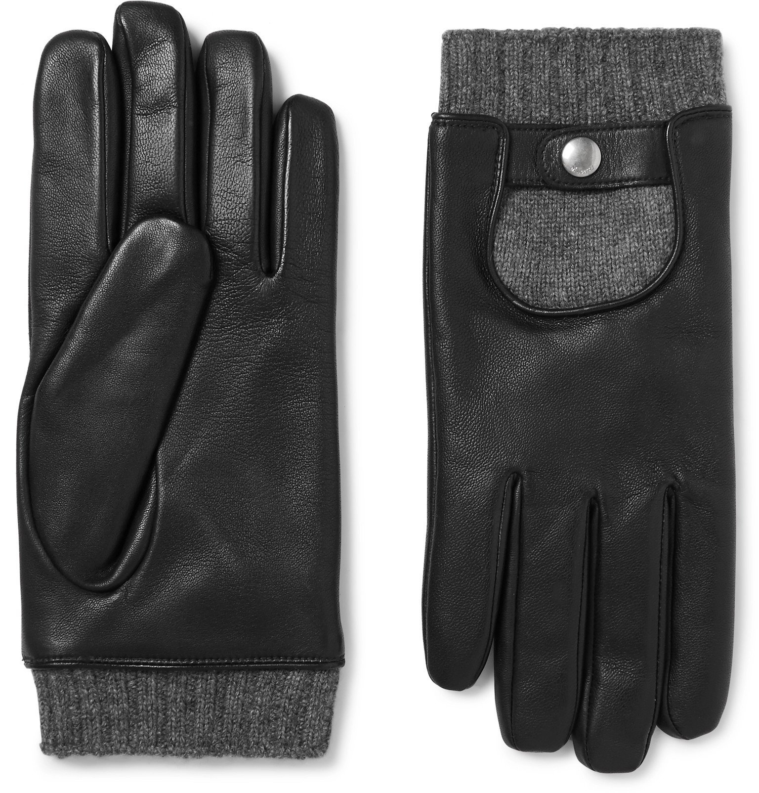 Photo: Mulberry - Cashmere-Lined Leather Gloves - Black