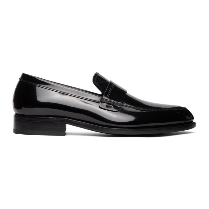 Photo: Givenchy Black Shiny Leather Loafers