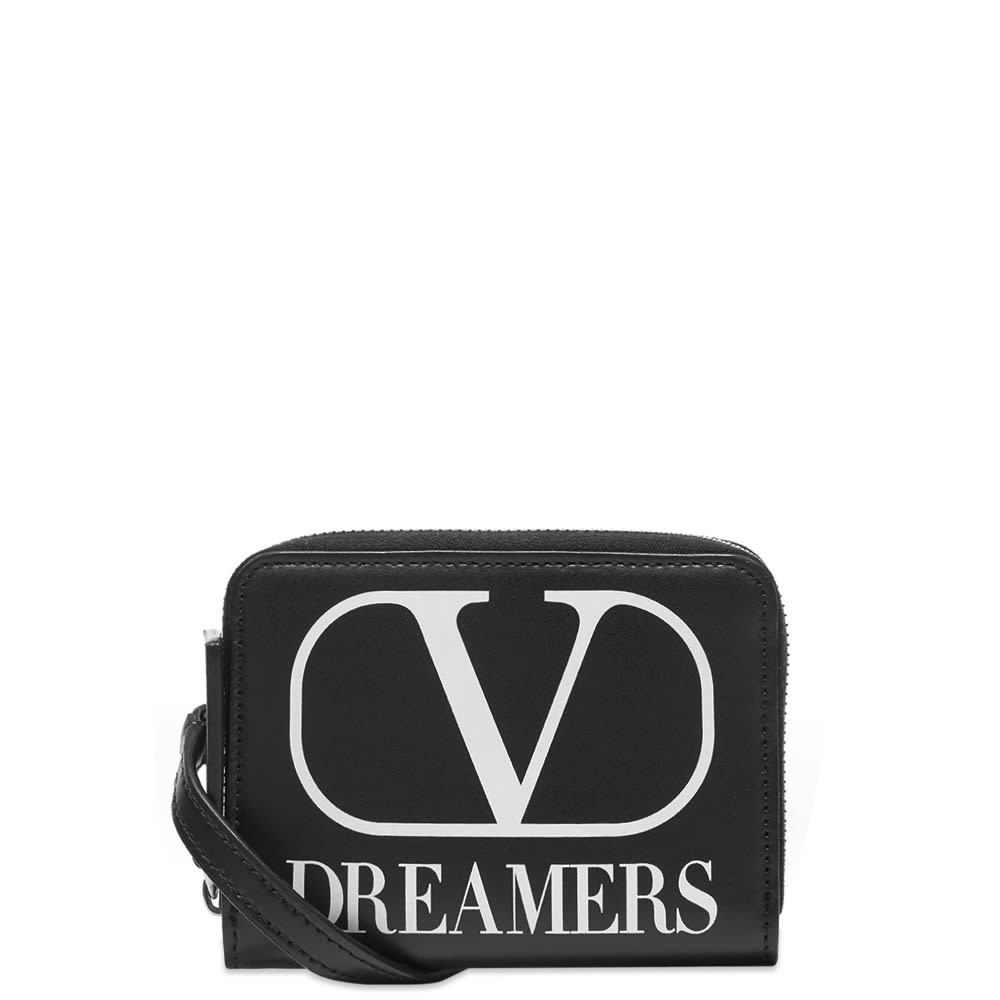 Photo: Valentino V Logo Dreamers Neck Wallet