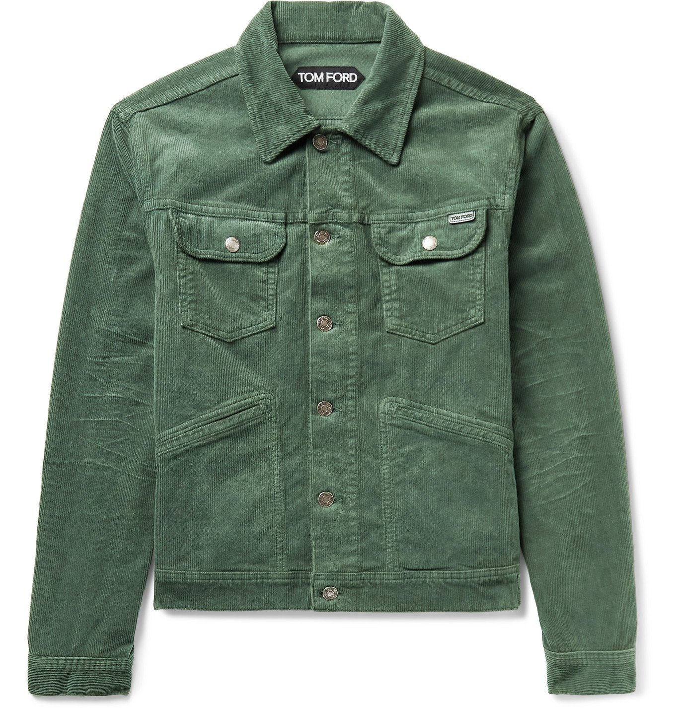 Photo: TOM FORD - Cotton-Blend Corduroy Jacket - Green