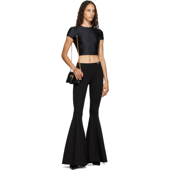 Versace Jeans Couture Black Flared Trousers