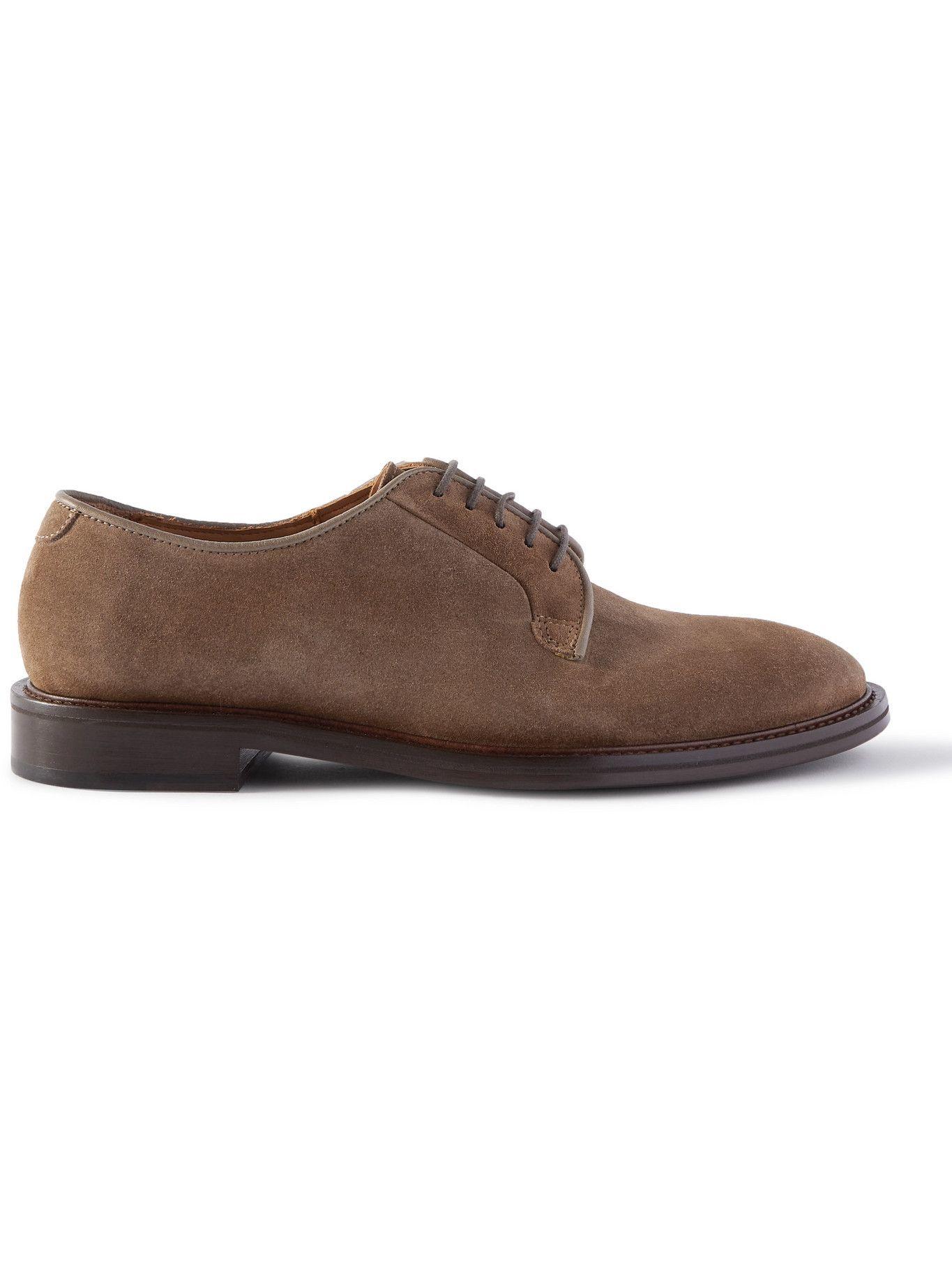 Photo: Mr P. - Lucien Suede Derby Shoes - Brown