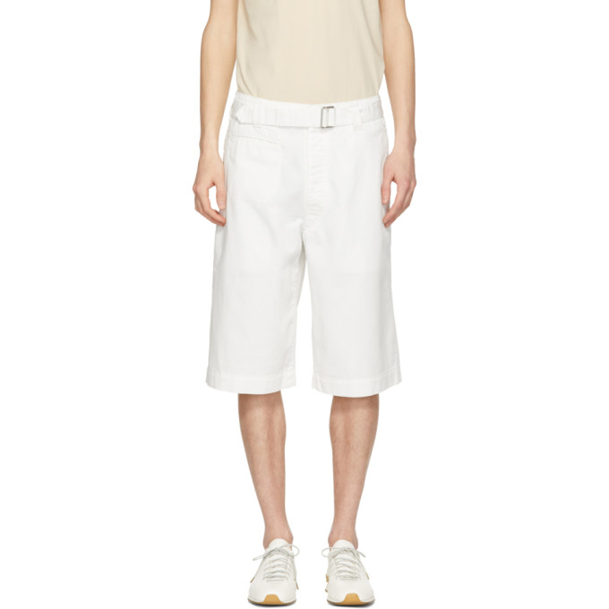 Photo: Lemaire White Trench Shorts
