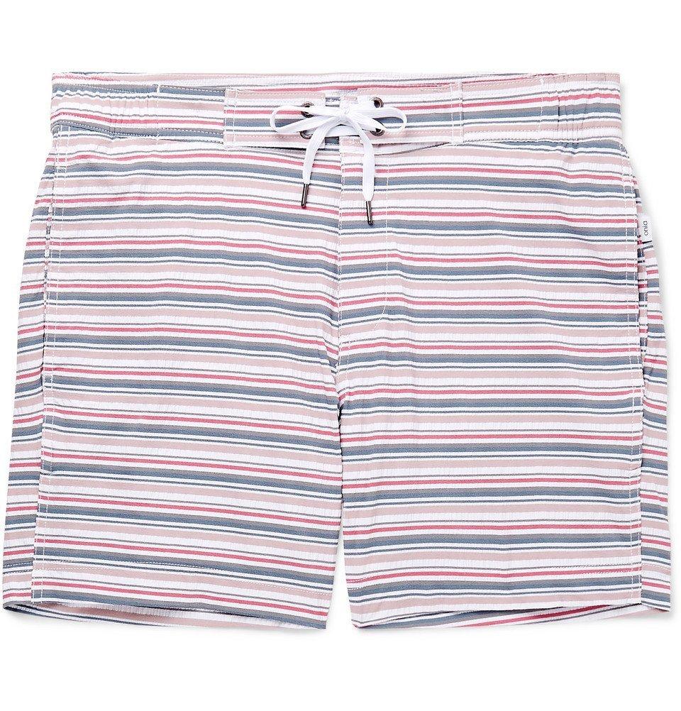 Photo: Onia - Alek Mid-Length Striped Swim Shorts - Men - Multi