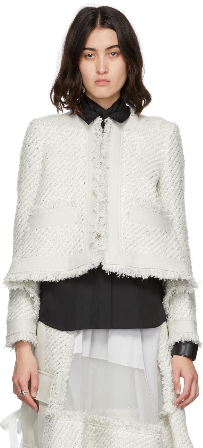 Sacai Tweed Lamé Jacket