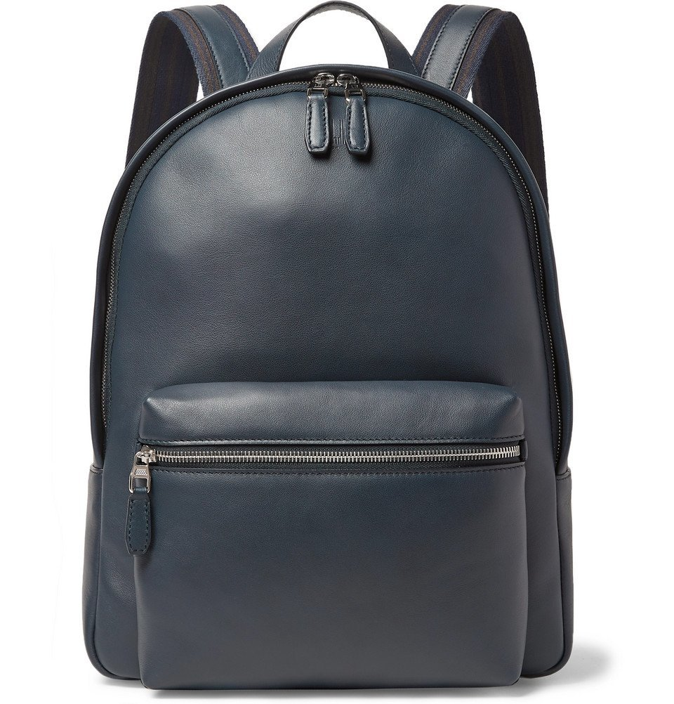 Dunhill - Hampstead Leather Backpack - Men - Navy