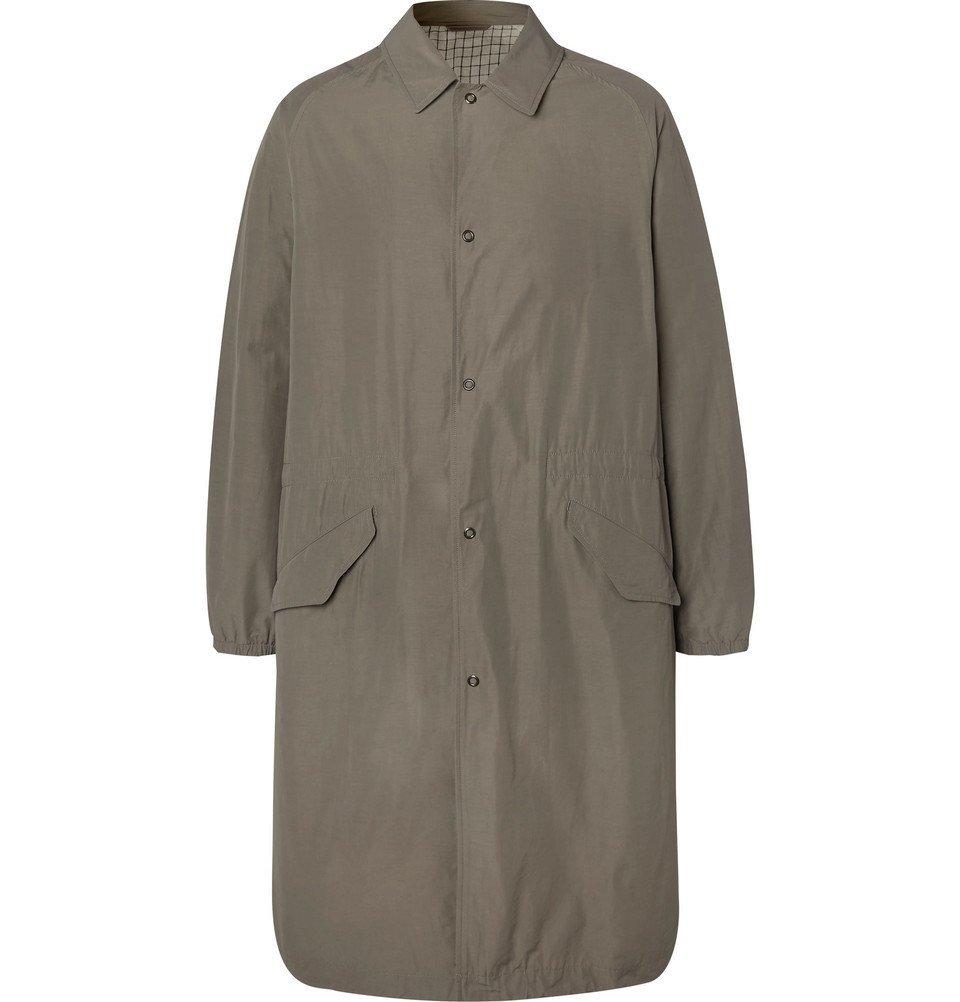Photo: Camoshita - Nylon Trench Coat - Gray
