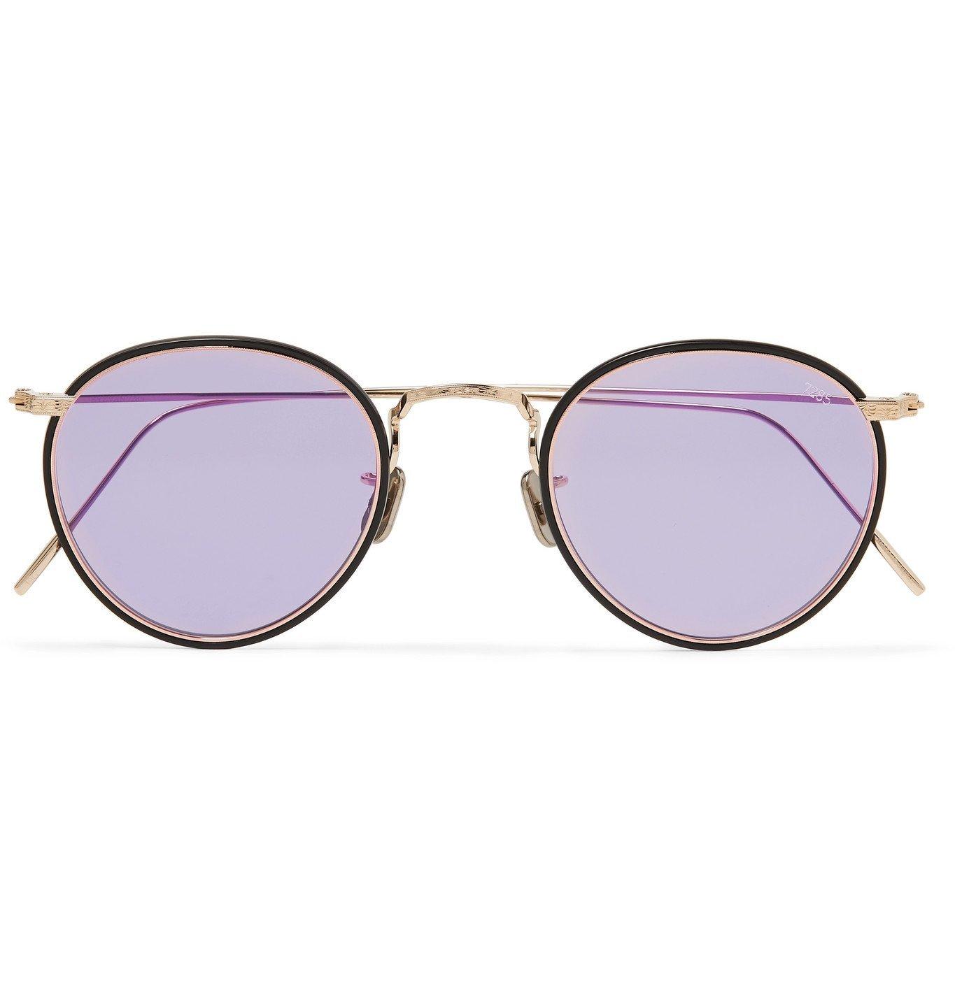 Photo: Eyevan 7285 - Round-Frame Acetate and Gold-Tone Sunglasses - Purple