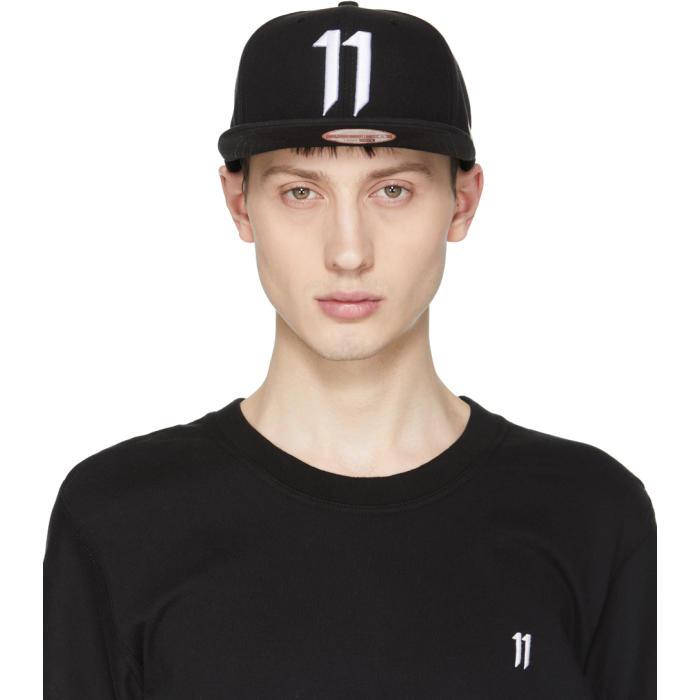 11 by Boris Bidjan Saberi Black and White New Era Edition Logo Cap ... 8028419a49b