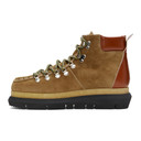 Sacai Brown Suede Lace-Up Boots