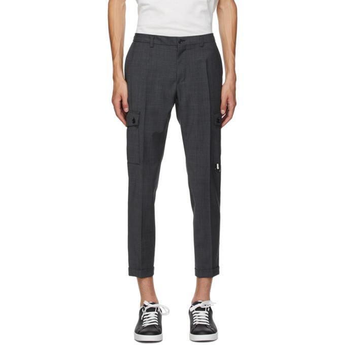 Photo: Dolce and Gabbana Black Wool Cargo Pants