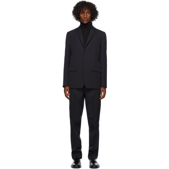 Photo: Jil Sander Navy Wool Essential Suit