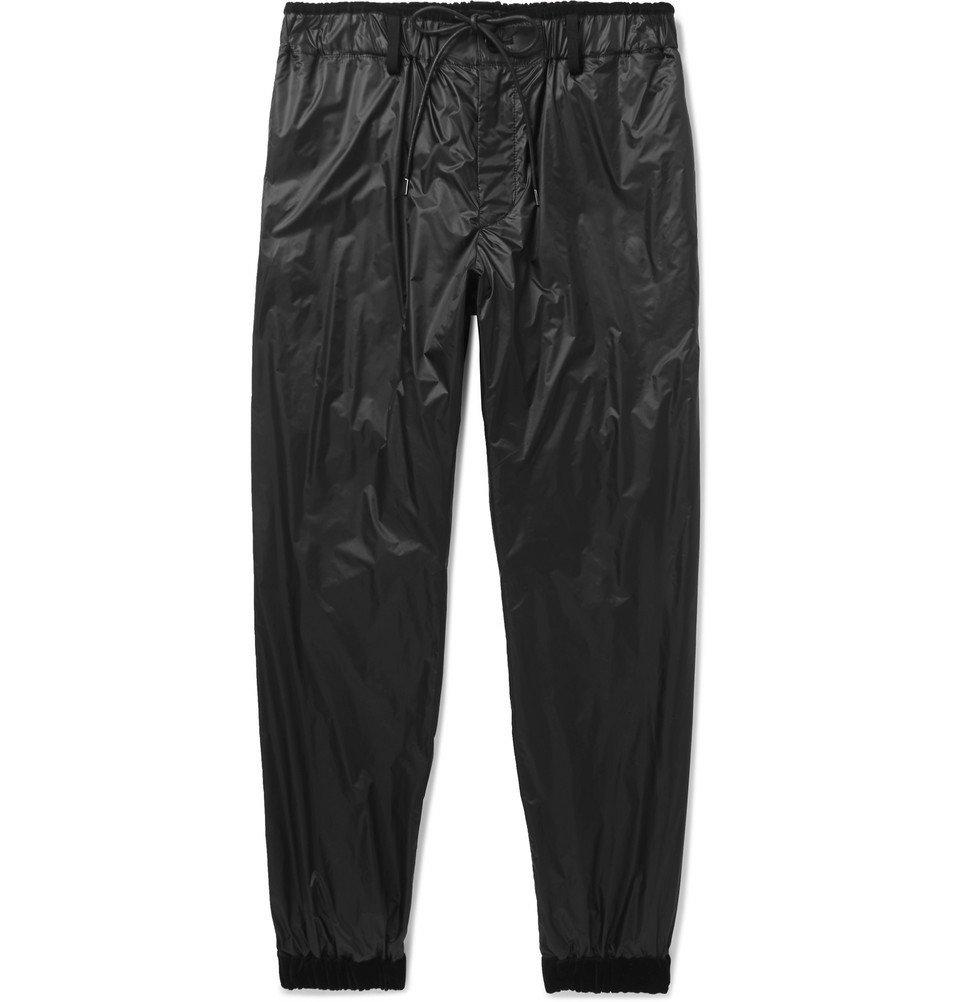 Sacai - Tapered Velvet-Trimmed Shell Track Pants - Black