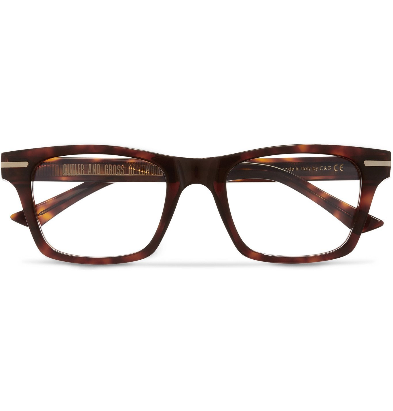 Photo: Cutler and Gross - Square-Frame Tortoiseshell Acetate Optical Glasses - Tortoiseshell
