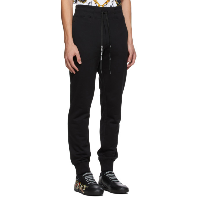 Versace Jeans Couture Black Warranty Tag Lounge Pants