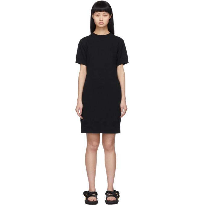 Sacai Black Cut-Out Sweat Dress