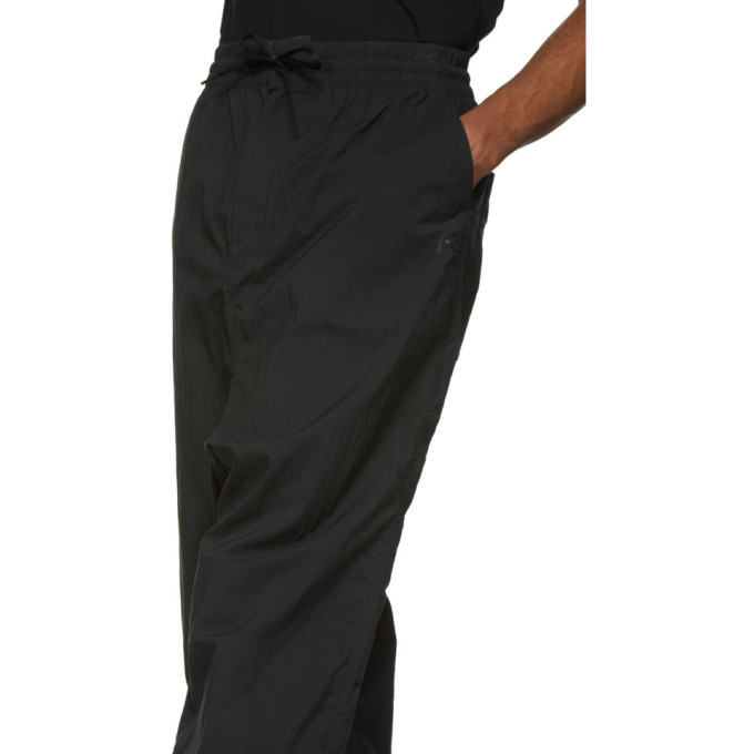 Y-3 Black Twill Wide Trousers